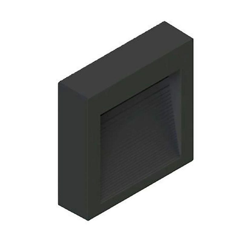 Balizador Sobrepor LED Save Energy SE-355.1506 1,5W 3000K 60G Bivolt 75x75x20mm Preto