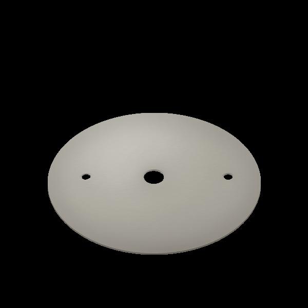 Canopla Plana Para Trilho Stella SD1000ST Satin Silver