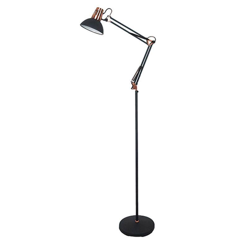 Coluna Quality CL861-PT Beaver 1L E27 550x250x1700mm Preto/Cobre