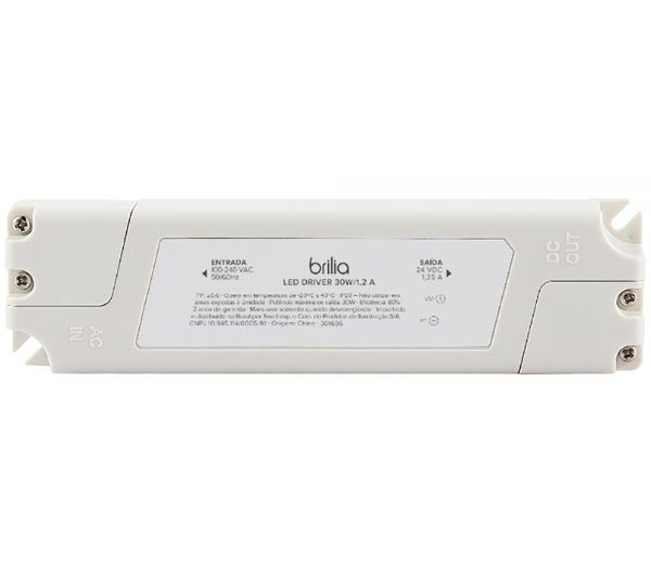 Driver LED Brilia 301696 IP20 30W 1,25A 24V Bivolt