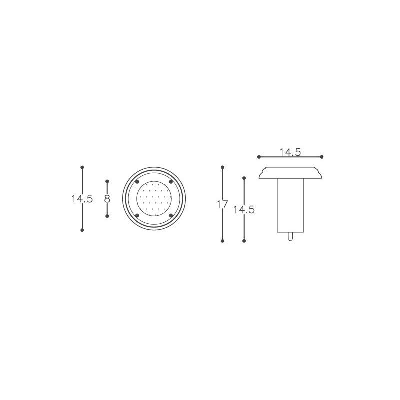 Embutido De Solo DM Lumi 324 1L PAR20 E27 Sem Grade Ø145x170mm