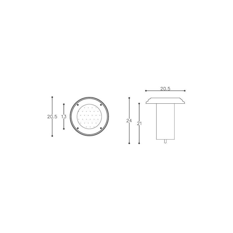 Embutido De Solo DM Lumi 325 1L PAR38 E27 Sem Grade Ø205x240mm