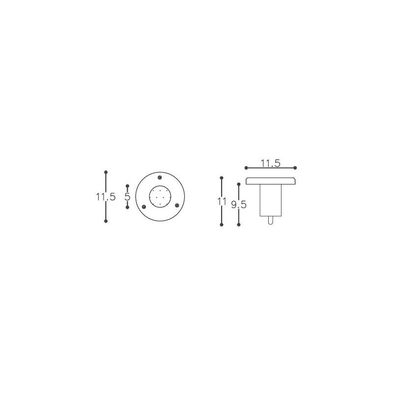 Embutido De Solo DM Lumi 331 1L Dicróica GU10 Sem Grade Ø155x110mm