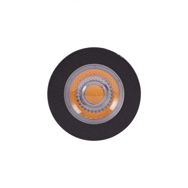 Embutido Solo LED Brilia 302655 Redondo IP67 4,5W 2700K 30G Bivolt Ø65x85mm - Preto