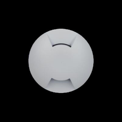 Balizador LED Romalux 10037 2 Fachos 0,7W 2700K IP66 Bivolt Ø60X92,5MM Branco