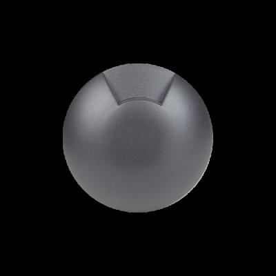 Balizador LED Romalux 10040 1 Facho 0,7W 2700K IP66 Bivolt Ø60X92,5MM Preto