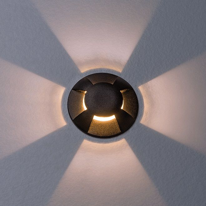 Embutido De Solo LED Stella STH7705/30 Balize 4 Fachos 1W 3000K IP67 Bivolt - Preto