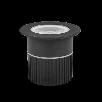 Embutido De Solo LED Stella STH7706/30 Focco 5W 3000K IP67 30° Bivolt - Preto