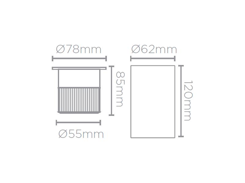 Embutido De Solo LED Stella STH7707/30 Focco 10W 3000K IP67 30G Bivolt - Preto