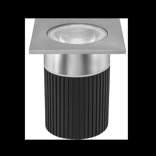 Embutido De Solo LED Stella STH8708/30 Focco Inox 10W 3000K IP67 30° Bivolt - Preto/Inox