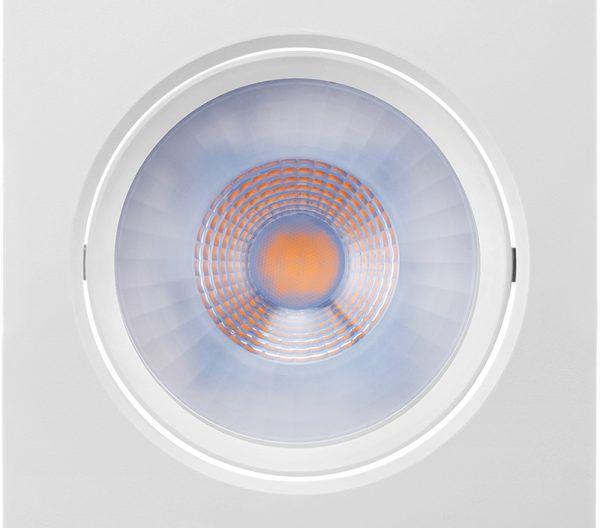 Luminária Embutir LED Brilia 435922 Dowlight Quadrada E27 PAR30 12W 6500K 30G Bivolt 140x140x56mm - Branco