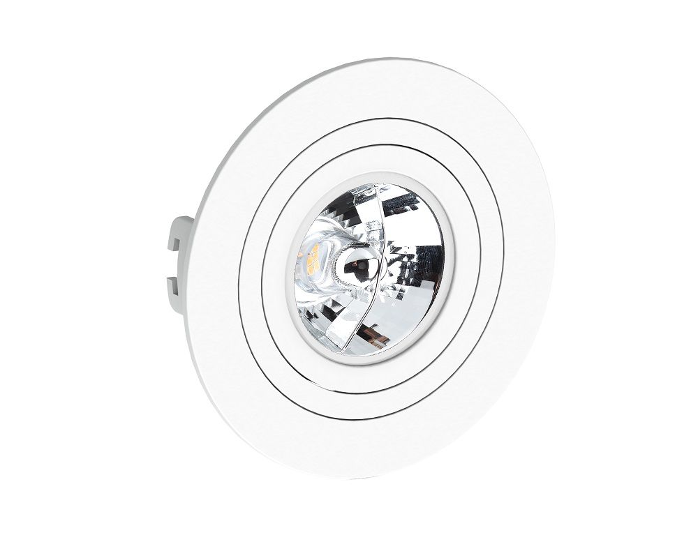 Spot Embutir Save Energy SE-330.1049 Redondo Face Plana AR70 GU10 Ø130x35mm Branco