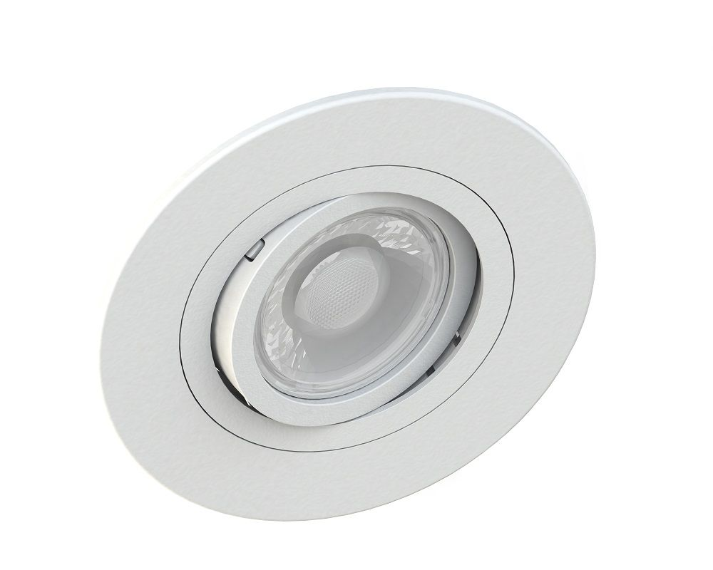 Spot Embutir Save Energy SE-330.1033 Redondo Face Plana Dicróica/PAR16 GU10 Ø100x35mm Branco