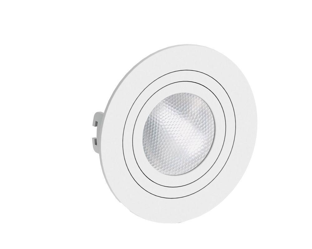 Spot Embutir Save Energy SE-330.1041 Redondo Face Plana PAR20 E27 Ø130x35mm Branco
