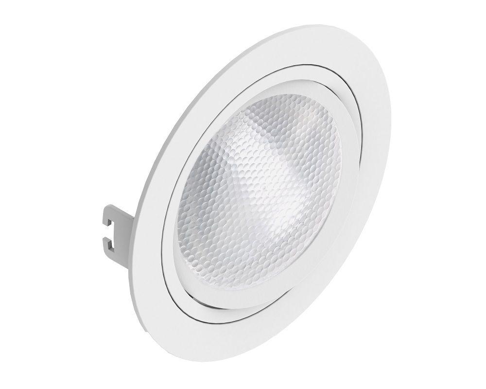 Spot Embutir Save Energy SE-330.1057 Redondo Face Plana PAR30 E27 Ø170x35mm Branco