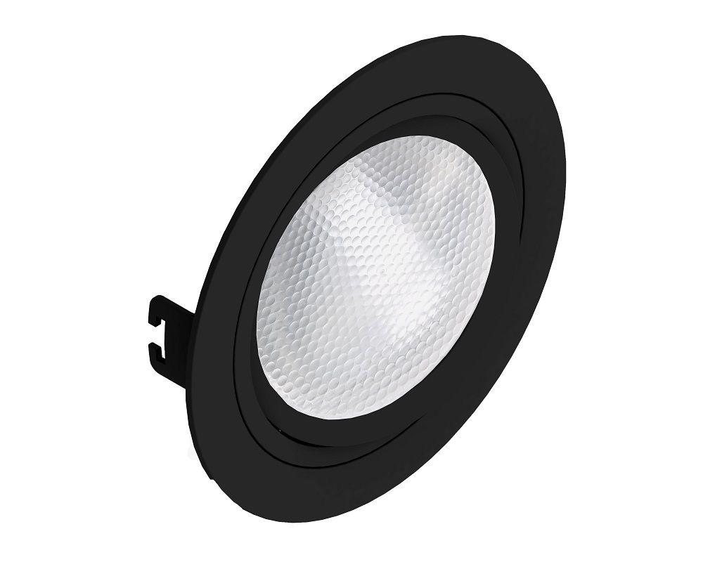 Spot Embutir Save Energy SE-330.1061 Redondo Face Plana PAR30 E27 Ø170x35mm Preto
