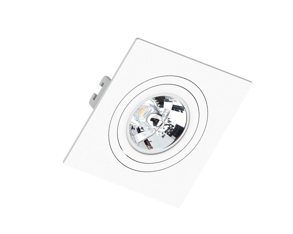 Spot Embutir Save Energy SE-330.1047 Quadrado Face Plana AR70 GU10 130x130x35 Branco