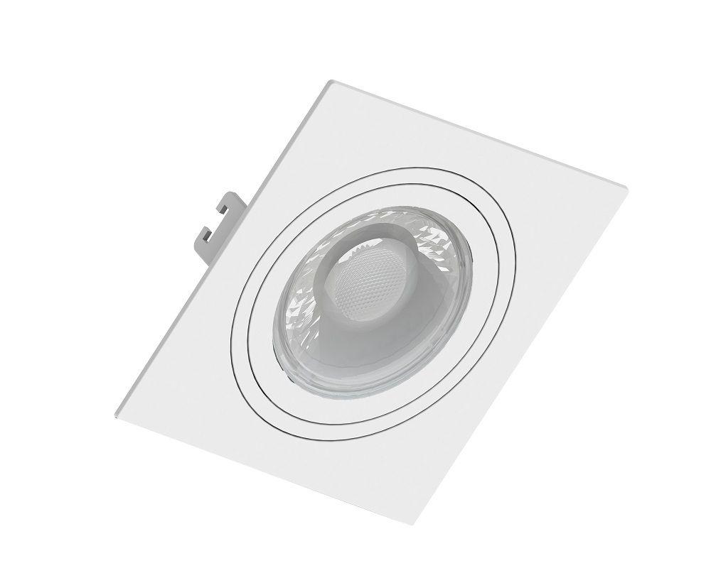 Spot Embutido Save Energy SE-330.1031 Quadrado Face Plana Dicróica/PAR16 GU10 100x100x35mm Branco