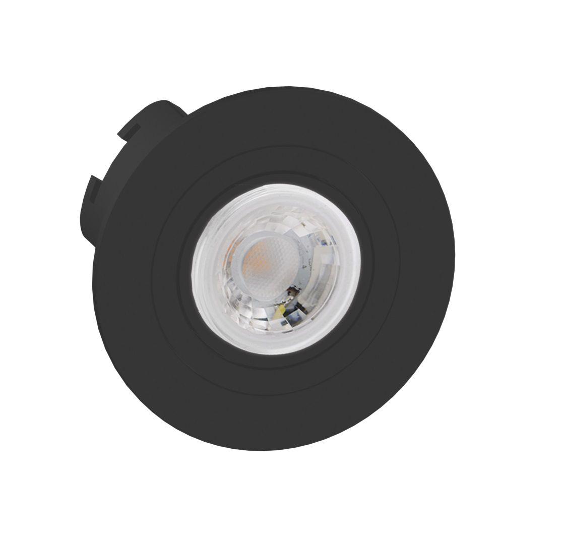 Spot Embutir Save Energy SE-330.1273 Redondo Face Plana Mini Dicróica GU10 Ø70x30mm Preto
