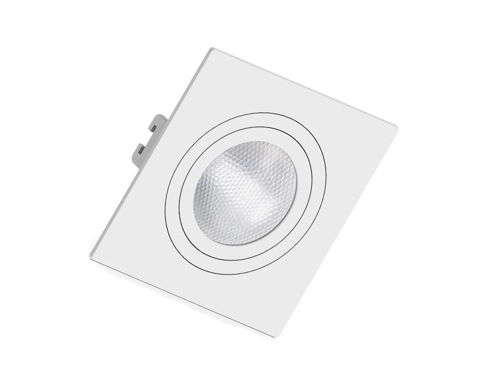 Spot Embutir Save Energy SE-330.1039 Quadrado Face Plana PAR20 E27 130x130x35mm Branco