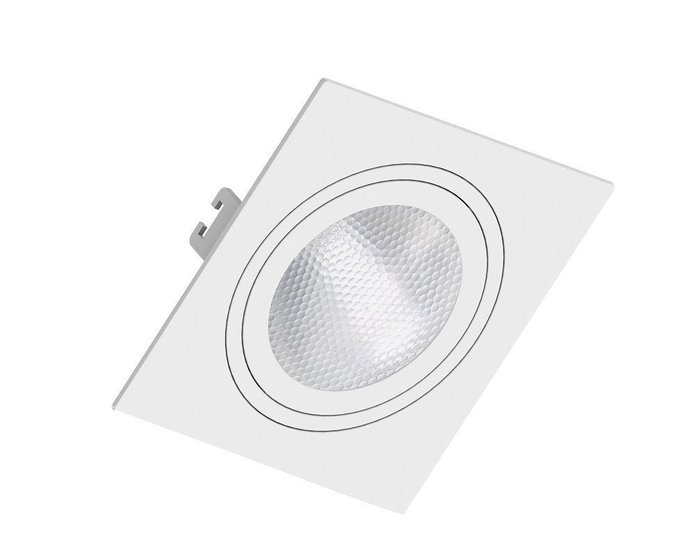 Spot Embutir Save Energy SE-330.1055 Quadrado Face Plana PAR30 E27 170x170x35mm Branco