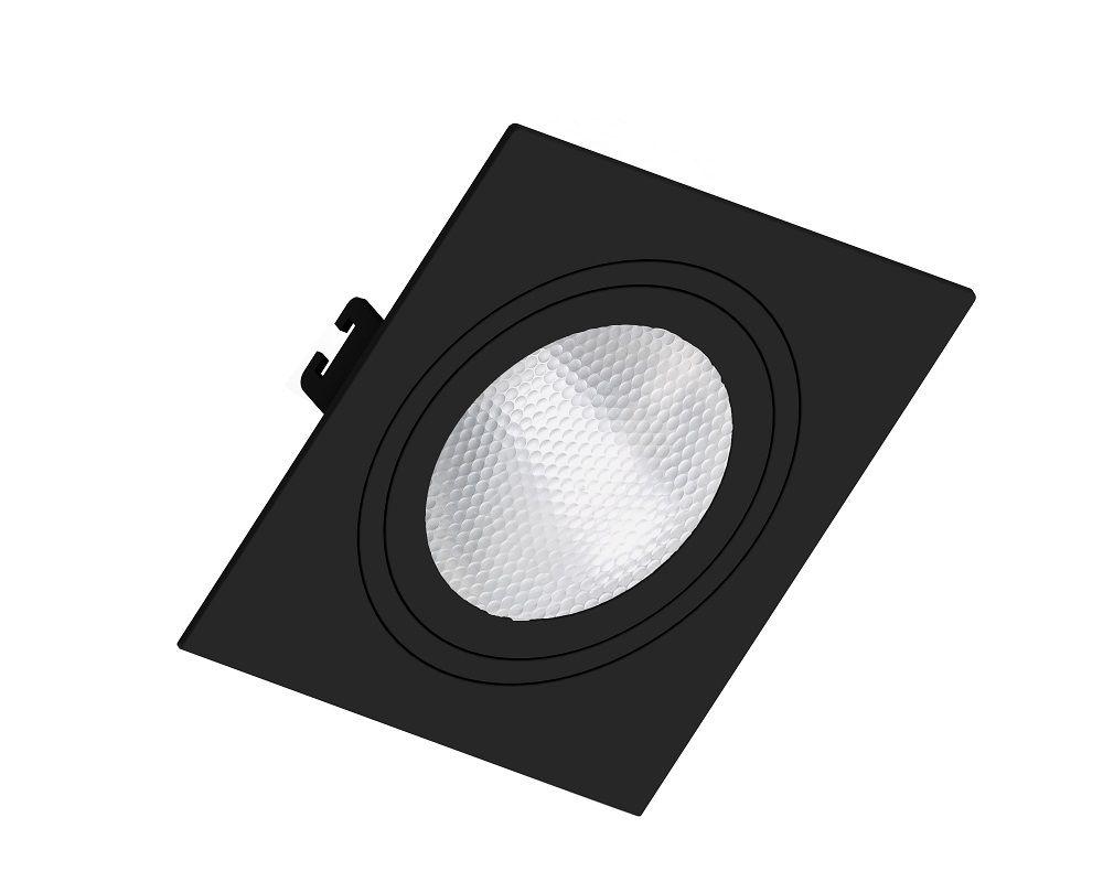 Spot Embutir Save Energy SE-330.1059 Quadrado Face Plana PAR30 E27 170x170x35mm Preto