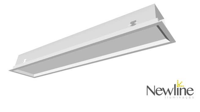 Luminária Embutir LED Newline 595LED4 Slim II 16W 4000K Bivolt 616x126x72mm