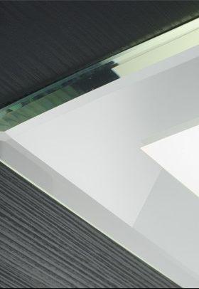 Plafon Madeira Embutir Madelustre 2516 Clean Vidro Espelhado 4L E27 460x460mm - Alumínio Branco