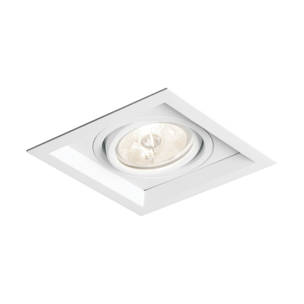 Spot Embutir Newline IN50321 Recuado II Quadrado 1L Dicróica/PAR16 GU10 117x117x75mm