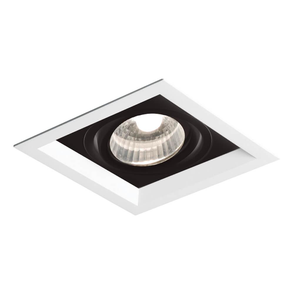 Spot Embutir Newline IN50321 Recuado II 1L Dicróica/PAR16 GU10 117x117x75mm