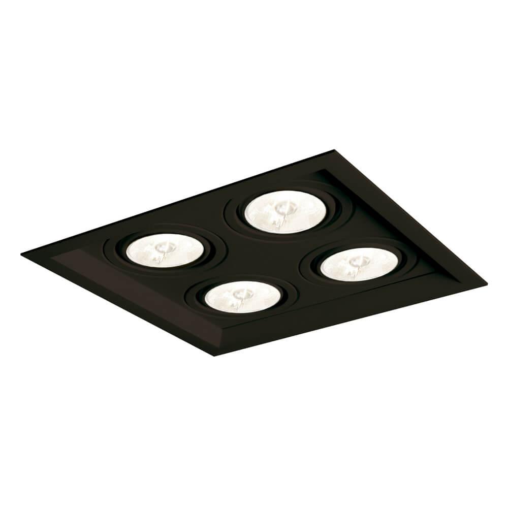 Spot Embutir Newline IN50334 Recuado II 4L PAR20 E27 241x241x120mm