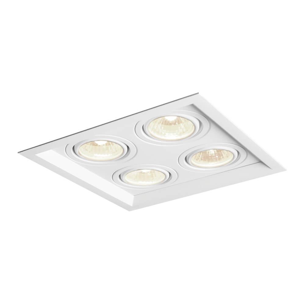 Spot Embutir Newline IN51344 Recuado II Quadrado 4L GU10 AR70 241x241x80mm