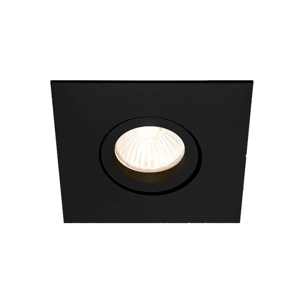 Spot Embutir Newline IN55521 Lisse II Quadrado 1L GU10 Dicróica/PAR16 95x95x70mm