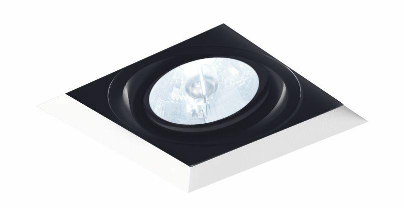 Spot Embutir Newline IN60321 No Frame II Quadrado 1L GU10 Dicróica/PAR16 96x96x90mm