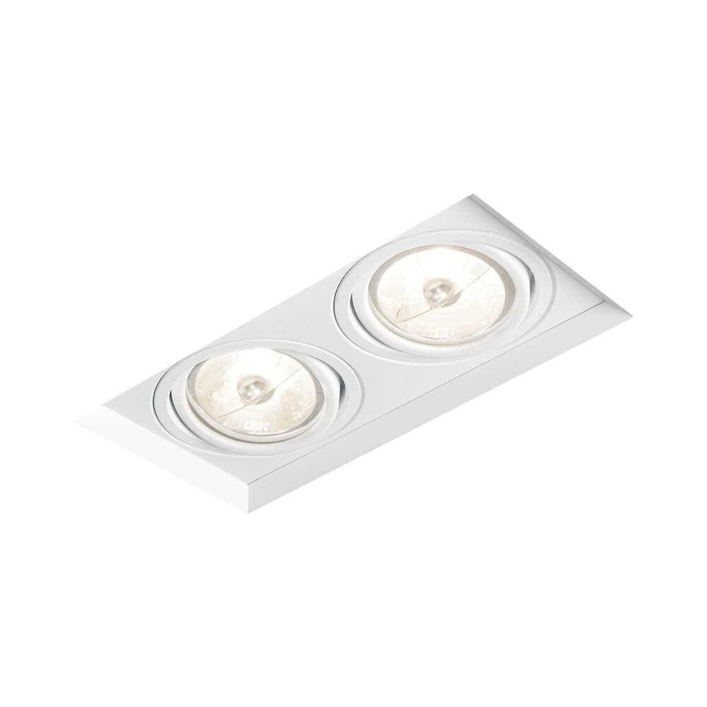 Spot Embutir Newline IN60322 No Frame II Retangular 2L Dicróica/PAR16 GU10 198x96x90mm