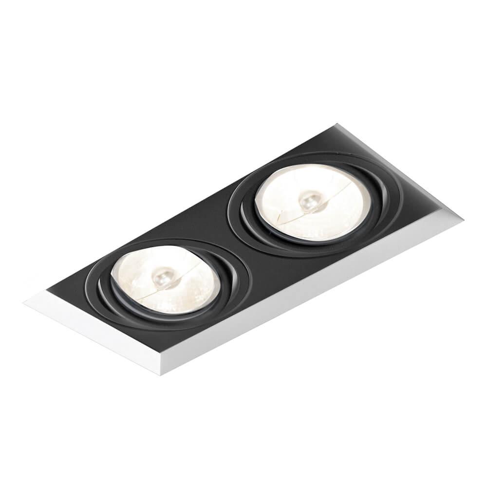Spot Embutir Newline IN60362 No Frame II Retangular 2L E27 PAR30 281x136x160mm