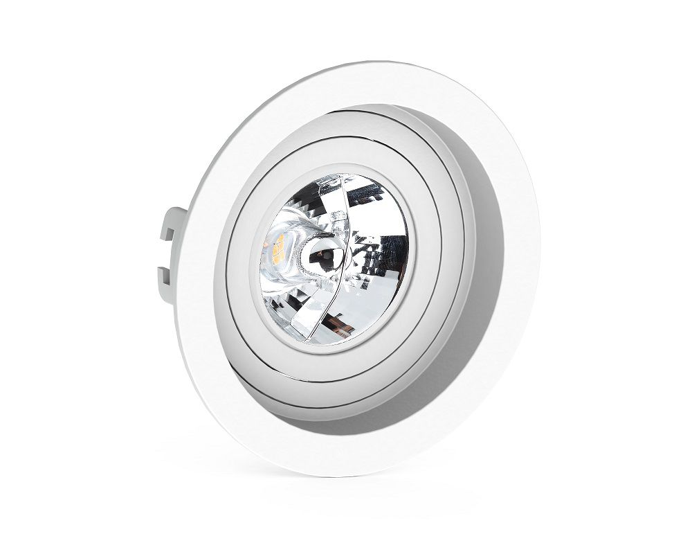 Spot Embutir Save Energy SE-330.1050 Redondo Recuado AR70 GU10 Ø130x75mm Branco