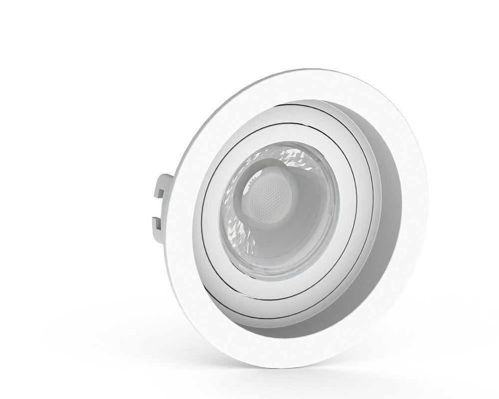 Spot Embutir Save Energy SE-330.1034 Redondo Recuado Dicróica/PAR16 GU10 Ø100x35mm Branco