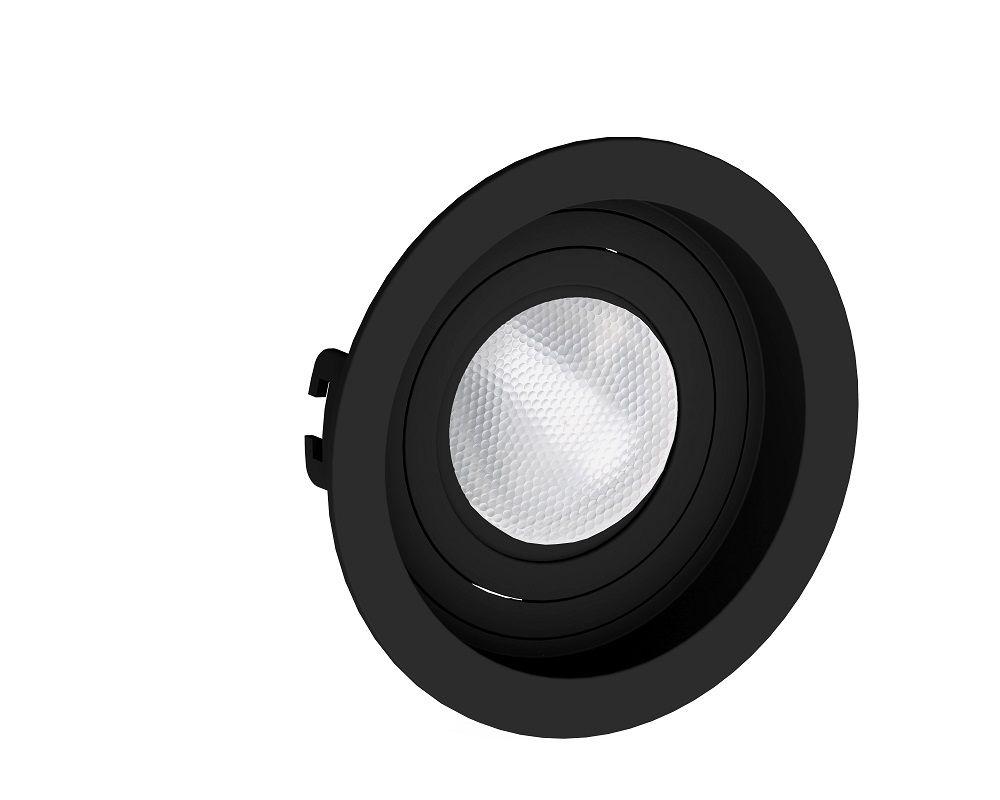 Spot Embutir Save Energy SE-330.1046 Redondo Recuado PAR20 E27 Ø130x35mm Preto