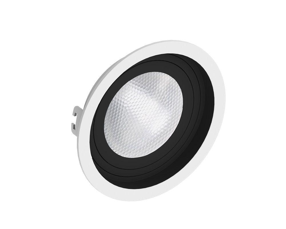 Spot Embutir Save Energy SE-330.1204 Redondo Recuado PAR30 E27 Ø170x35mm Branco/Preto