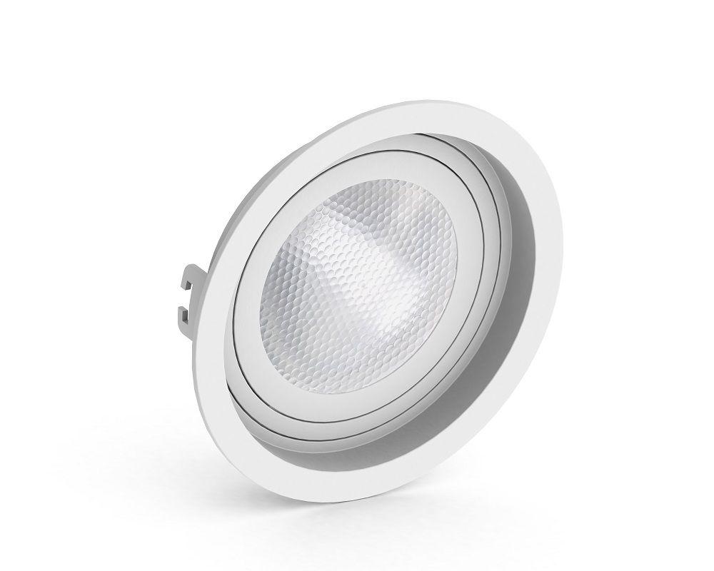 Spot Embutir Save Energy SE-330.1058 Redondo Recuado PAR30 E27 Ø170x35mm Branco