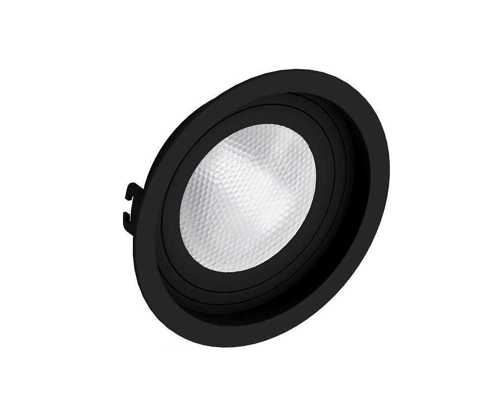 Spot Embutir Save Energy SE-330.1062 Redondo Recuado PAR30 E27 Ø170x35mm Preto