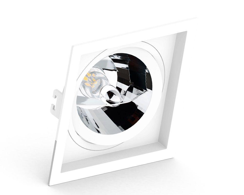 Spot Embutir Save Energy SE-330.1064 Quadrado Recuado AR111 GU10 170x170x35mm Branco