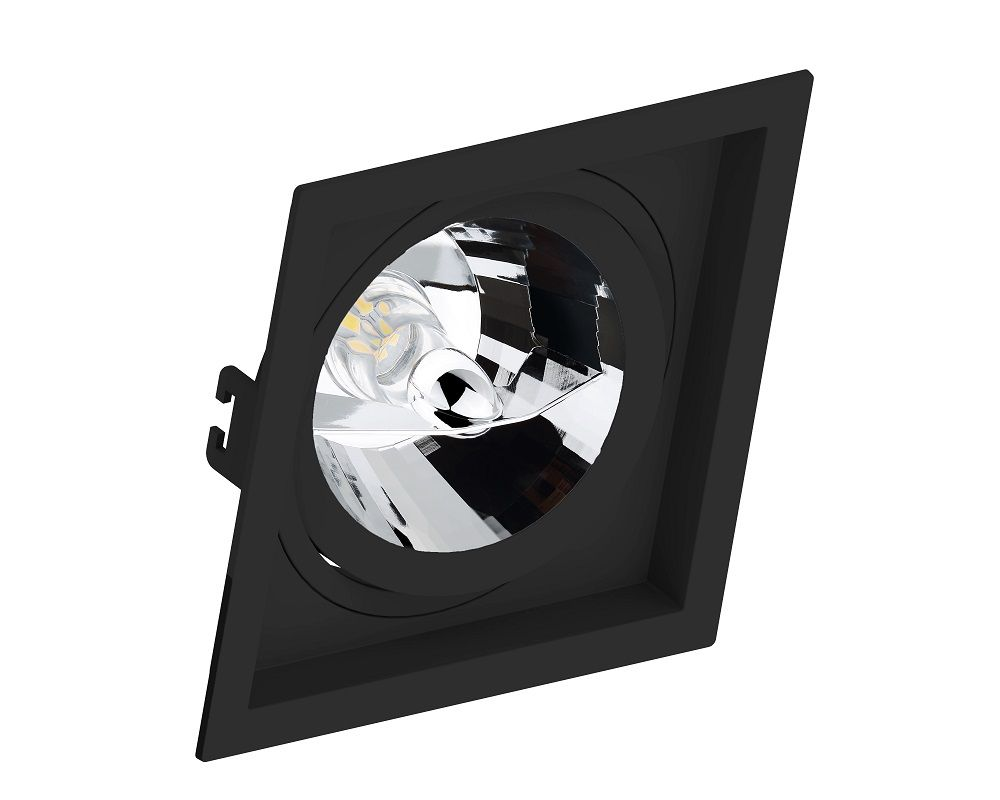 Spot Embutir Save Energy SE-330.1068 Quadrado Recuado AR111 GU10 170x170x35mm Preto