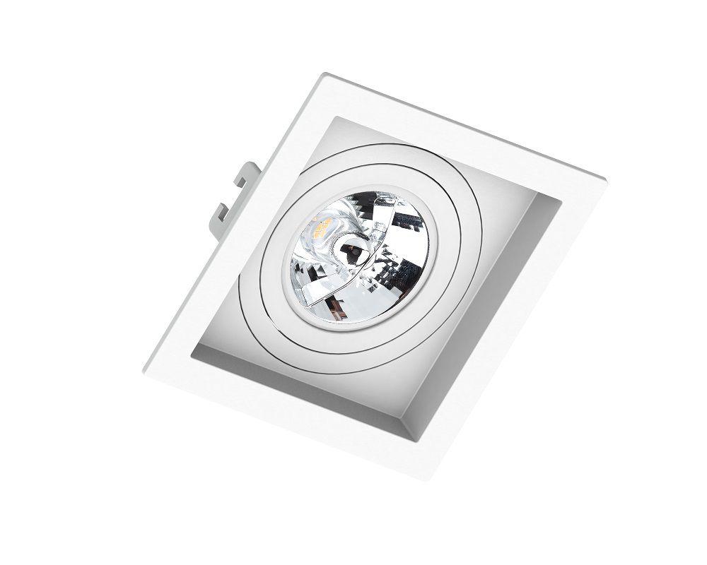 Spot Embutir Save Energy SE-330.1048 Quadrado Recuado AR70 GU10 130x130x35mm Branco