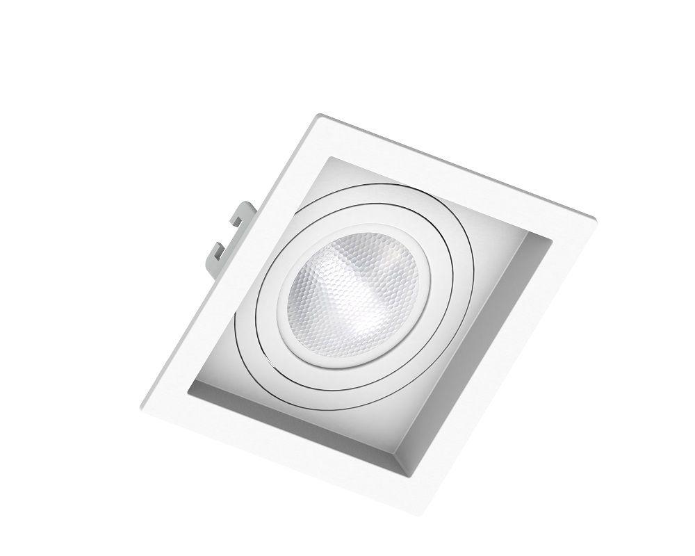 Spot Embutir Save Energy SE-330.1040 Quadrado Recuado PAR20 E27 130x130x35mm Branco