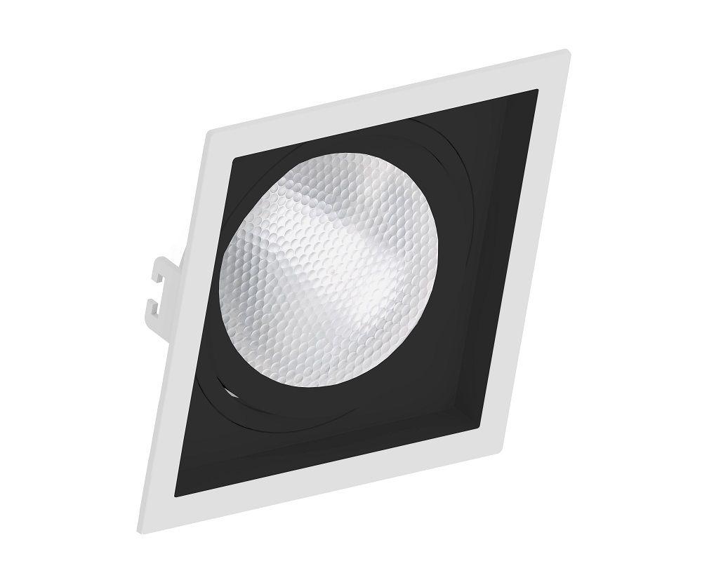 Spot Embutir Save Energy SE-330.1203 Quadrado Recuado PAR30 E27 170x170x35mm Branco/Preto