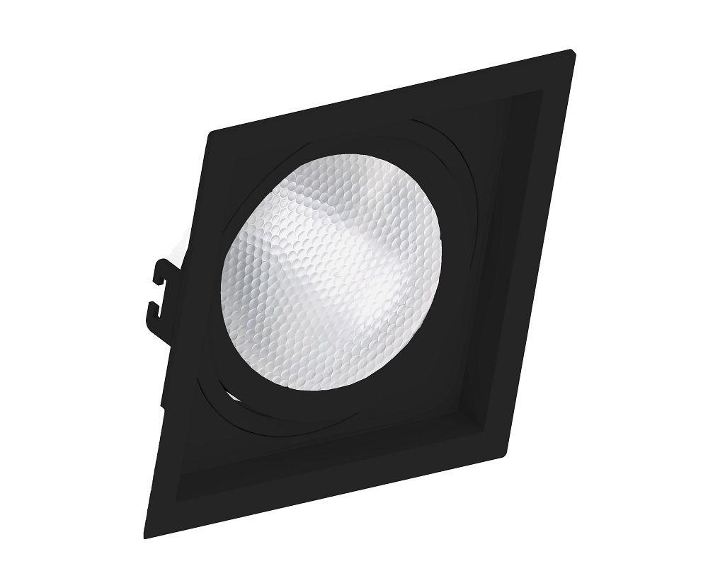 Spot Embutir Save Energy SE-330.1060 Quadrado Recuado PAR30 E27 170x170x35mm Preto