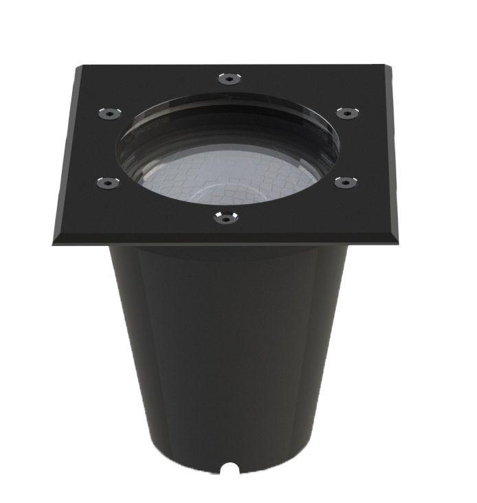 Embutido Solo LED Save Energy SE-335.1365 Jet Black Quadrado 12W 2700K 30G Bivolt