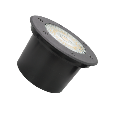 Embutido Solo LED Romalux 10070 18W 2700K IP66 Bivolt Ø150x72mm Preto